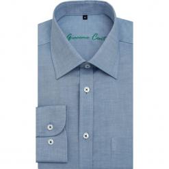Koszula SIMONE3D KDNR000105. Niebieskie koszule męskie na spinki Giacomo Conti, m, z bawełny, z klasycznym kołnierzykiem, z długim rękawem. Za 199,00 zł.