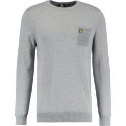 Swetry klasyczne męskie: Lyle & Scott FLECK POCKET JUMPER Sweter mid grey marl