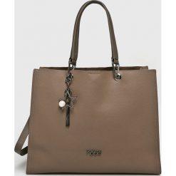 Nobo - Torebka. Brązowe torebki klasyczne damskie Nobo, w paski, z materiału, duże. W wyprzedaży za 189,90 zł.