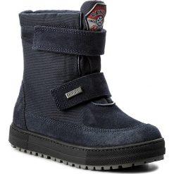 Śniegowce NATURINO - Gange 0013001220.01.9101 Bleu. Niebieskie buty zimowe chłopięce Naturino, z materiału. W wyprzedaży za 309,00 zł.