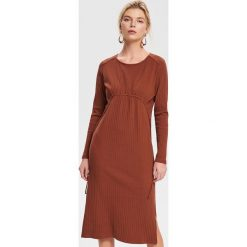 1ce5d7cc91c16e Dzianinowa sukienka - Brązowy. Pomarańczowe sukienki damskie Reserved, s,  bez wzorów, z