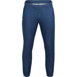 Spodnie dresowe męskie: Spodnie dresowe męskie SPMD603 - niebieski melanż - Outhorn