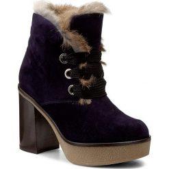 Botki BALDININI - 818101A83SCRUS1580 Baltico. Niebieskie buty zimowe damskie Baldinini, ze skóry, na obcasie. W wyprzedaży za 1279,00 zł.