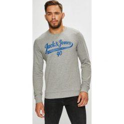 Jack & Jones - Bluza. Czarne bluzy męskie rozpinane marki Jack & Jones, l, z bawełny, z okrągłym kołnierzem. Za 89,90 zł.