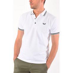 Koszule męskie na spinki: Koszula z kołnierzem polo, wzorzysta, krótki rękaw