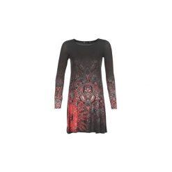Sukienki krótkie Desigual  JAIPUR. Szare sukienki mini marki Desigual, l, z krótkim rękawem. Za 349,00 zł.