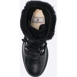 Gant - Śniegowce Maria. Czarne botki damskie skórzane marki GANT. W wyprzedaży za 499,90 zł.