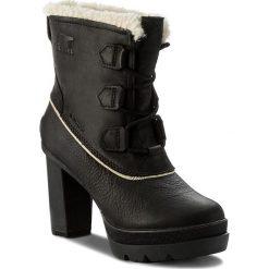 Botki SOREL - Dacie Lace NL2551 Black 010. Czarne botki damskie skórzane Sorel. W wyprzedaży za 529,00 zł.