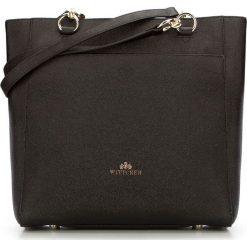 Torebka damska 87-4E-415-1. Czarne shopper bag damskie Wittchen, w paski, na ramię. Za 499,00 zł.