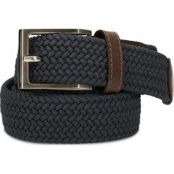 Pasek męski. Brązowe paski męskie marki Gino Rossi, w paski, z jeansu, klasyczne. Za 109,90 zł.