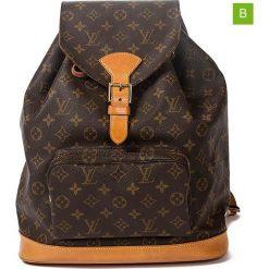 """Plecaki damskie: Plecak """"Montsouris GM"""" w kolorze brązowym – 30 x 35 x 12 cm"""