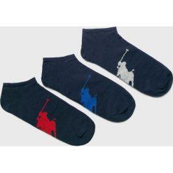 Polo Ralph Lauren - Skarpety (3-pack). Szare skarpetki męskie Polo Ralph Lauren, z bawełny. Za 89,90 zł.
