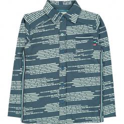 """Koszula """"Write Me Again"""" w kolorze morskim. Niebieskie koszule chłopięce marki 4FunkyFlavours Kids, z klasycznym kołnierzykiem. W wyprzedaży za 102,95 zł."""