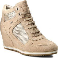 Sneakersy GEOX - D Illusion B D7254B 022GN C8182 Naturalny. Brązowe sneakersy damskie marki Geox, z materiału. W wyprzedaży za 379,00 zł.
