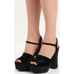 Rzymianki damskie: Czarne Sandały Ambrosia