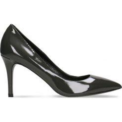 Czółenka SAVONA. Szare buty ślubne damskie Gino Rossi, z lakierowanej skóry. Za 281,94 zł.
