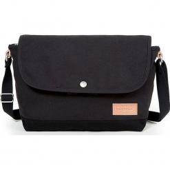 """Torebka """"Myra Superb"""" w kolorze czarnym - 35 x 20 x 11,5 cm. Czarne torby na laptopa marki Eastpak, w paski, z materiału. W wyprzedaży za 108,95 zł."""