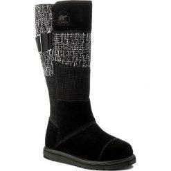 Kozaki SOREL - Rylee Tall NL2293 Black 010. Czarne buty zimowe damskie Sorel, z gumy. W wyprzedaży za 309,00 zł.