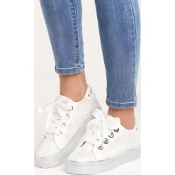 Białe Buty Sportowe City of Angels. Pomarańczowe buty sportowe damskie marki Born2be, z materiału. Za 79,99 zł.