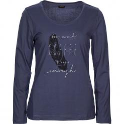 """Koszulka piżamowa """"Cozy World"""" w kolorze granatowym. Białe koszule nocne i halki marki LASCANA, w koronkowe wzory, z koronki. W wyprzedaży za 58,95 zł."""