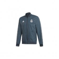 Bluzy dresowe adidas  Bluza reprezentacyjna Real Madryt Anthem. Niebieskie bluzy dresowe męskie marki Adidas, m. Za 379,00 zł.