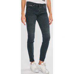 Armani Exchange - Jeansy. Czarne jeansy damskie marki Armani Exchange, l, z materiału, z kapturem. Za 499,90 zł.