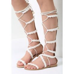 Białe Sandały Deep Area. Białe sandały damskie vices, na płaskiej podeszwie. Za 89,99 zł.