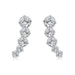 Biżuteria i zegarki: Kolczyki-wkrętki z kryształkami Swarovski