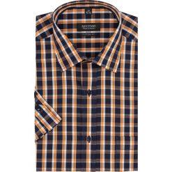 Koszule męskie: koszula bexley 1755 krótki rękaw custom fit granatowy