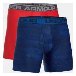 Majtki męskie: Under Armour Bokserki męskie Original 6in 2 Pack Novlt granatowo-czerwone r. XL (1299994-400)