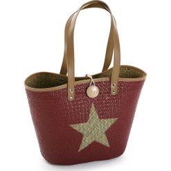 Shopper bag damskie: Shopper bag w kolorze czerwonym – 45 x 32 x 20 cm
