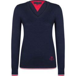 """Swetry klasyczne damskie: Sweter """"Shot"""" w kolorze granatowym"""