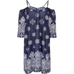 Sukienki: Sukienka z wycięciami na ramionach bonprix ciemnoniebieski