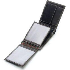 Elegancki portfel skórzany Wild`s. Brązowe portfele męskie Wild, z nubiku. Za 49,90 zł.