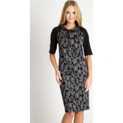 Sukienki: Sukienka ze wzorem z wiązanym półgolfem QUIOSQUE