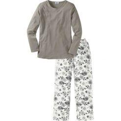 Piżama bonprix szaro-biały z nadrukiem. Białe piżamy damskie bonprix, z nadrukiem. Za 69,99 zł.