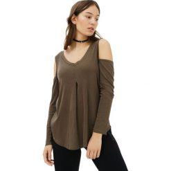 Bluzki asymetryczne: Bluzka w kolorze oliwkowym