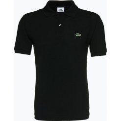 Lacoste - Męska koszulka polo, czarny. Szare koszulki polo marki Lacoste, z bawełny. Za 399,95 zł.