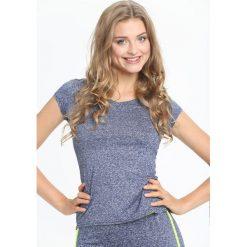 Niebieska Bluzka Coke. Niebieskie bluzki sportowe damskie Born2be, l, z krótkim rękawem. Za 9,99 zł.