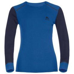 Odlo Koszulka damska Shirt L/s Crew Neck Warm niebieska r. S (152021). Koszulki sportowe męskie Odlo, l. Za 128,74 zł.
