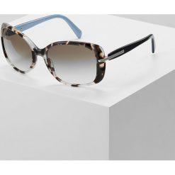 Prada Okulary przeciwsłoneczne spotted brown. Brązowe okulary przeciwsłoneczne damskie aviatory Prada. Za 899,00 zł.