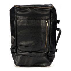 Bobby Black Plecak Męski Czarny. Brązowe plecaki męskie marki Alma en Pena, z materiału, na obcasie. Za 269,00 zł.
