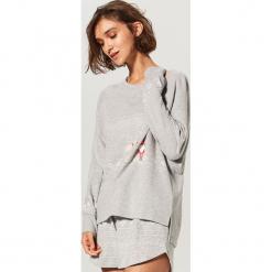 Dwuczęściowa piżama - Szary. Czarne piżamy damskie marki Reserved, l. Za 99,99 zł.