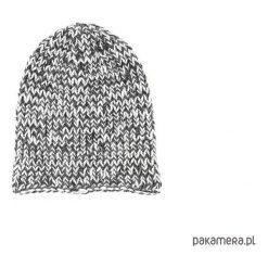 Czapka melanżowa unisex robiona na drutach. Szare czapki zimowe damskie Pakamera, z poliamidu. Za 69,00 zł.