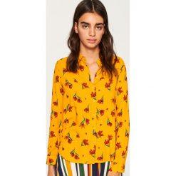 Koszula we wzory - Żółty. Białe koszule damskie marki Reserved, l, z dzianiny. Za 59,99 zł.