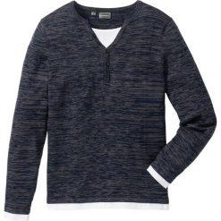 Sweter Regular Fit bonprix niebieski melanż. Niebieskie swetry klasyczne męskie marki bonprix, l, melanż. Za 74,99 zł.