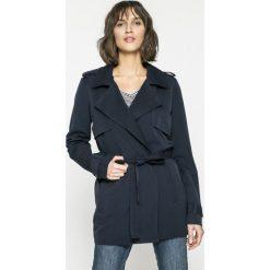 Vero Moda - Płaszcz. Czarne płaszcze damskie pastelowe Vero Moda, l, w paski, z elastanu, klasyczne. W wyprzedaży za 89,90 zł.