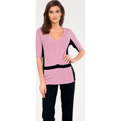 Odzież damska: Sweter w kolorze szaroróżowo-czarnym