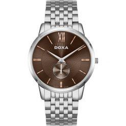 ZEGAREK DOXA Slim Line D155SBR. Szare zegarki męskie DOXA, ze stali. Za 1900,00 zł.