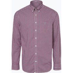 Gant - Koszula męska, czerwony. Czerwone koszule męskie na spinki GANT, m, w kratkę, z bawełny, z klasycznym kołnierzykiem. Za 379,95 zł.